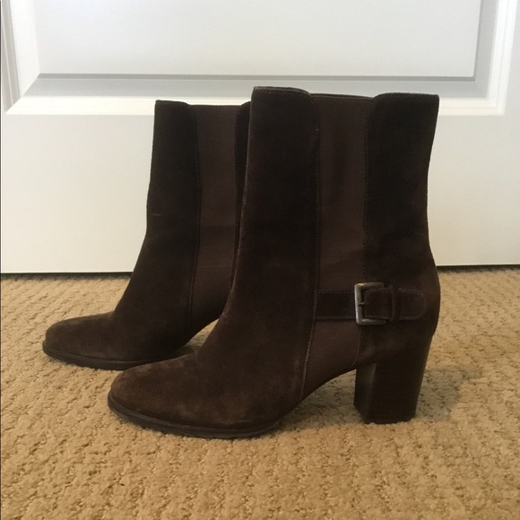 Brown suede Cole Haan ankle boots size 7